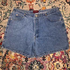 Unique High Waisted Vintage Denim Shorts